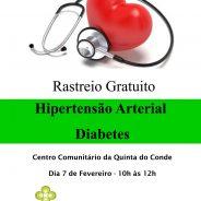 Rastreio de Hipertensão Arterial e Diabetes